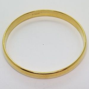 Monet Heavy Gold Bangle Bracelet 174